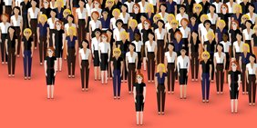 Gruppe vieler Frauen